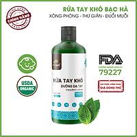 Nước rửa tay khô tinh dầu Bạc Hà 24Care - Có chứng nhận diệt khuẩn 99,9% đạt tiêu chuẩn FDA