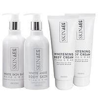 Combo Skin AEC Dưỡng Trắng Da Hoàn Hảo + Kem Dưỡng Trắng Da Ban Đêm Skin Aec Whitening Body Cream