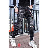 Quần jean nam - quần bò nam co dãn ôm form tôn dáng chuẩn, quần jean thời trang cao cấp nam Muradfashion mẫu MSS04