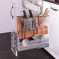 Giá để dao thớt chai lọ trong tủ bếp HD01