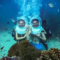 Combo [PHÚ QUỐC] đi bộ dưới đáy biển, Cano đưa đón, quay phim, chụp ảnh -Gói VIP