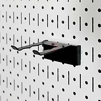 Móc đỡ chữ U sóng Pegboard - Giá treo bằng thép sơn tĩnh điện - Phụ kiện cho bảng treo dụng cụ cơ khí