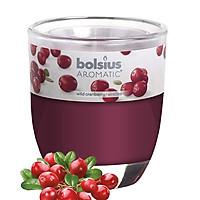 Ly nến thơm tinh dầu Bolsius Wild Cranberry 105g QT024346 - nam việt quất