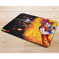 Miếng lót chuột mẫu 7 viên ngọc rồng, Goku tóc đỏ