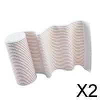 2xElastic Bandage Sports Injury Protection Compression Wrap Brace 6 inch