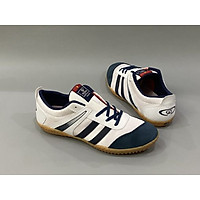 Giày đá banh sân cỏ nhân tạo, sân futsal màu trắng sọc đen