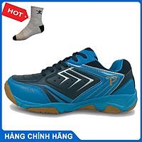 Giày thể thao promax 19002 màu xanh navy mẫu mới, giày cầu lông bóng chuyền chuyên nghiệp - tặng tất thể thao bendu chính hãng