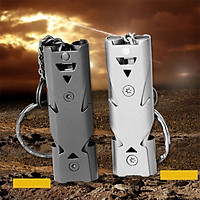 150DB Stainless Steel Whistle with Key Chain Lifesaving Emergency SOS Encourage Outdoor Survival Tool