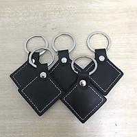 Set 5 thẻ từ dạng móc khóa da mở cửa ra vào, cửa từ, cửa thang máy, chấm công tần số 125 Khz