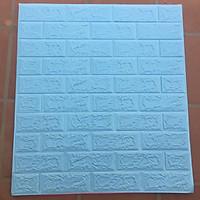Set 10 tấm xốp dán tường giả gạch 3D - Khổ lớn 70x77cm