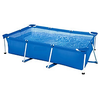 Bể bơi khung kim loại chữ nhật  28270 - Hồ bơi lắp dựng, Bể bơi gia đình, bể bơi cho bé, bể bơi người lớn, hồ bơi ngoài trời 220*150*60cm