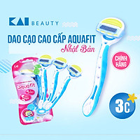 Dao cạo lông cao cấp Nhật cho nữ Aquafit 5 Blade (3 chiếc)