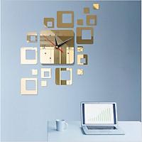 Đồng hồ dán tường DH003 3D trang trí hiện đại