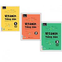 Trọn Bộ 3 Tập Vitamin Tiếng Hàn (Học Kèm App MCBooks Application) (Cào Tem Để Mở Quà Tặng)