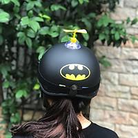 Combo Mũ Bảo Hiểm 1/2 Nửa Đầu Người Dơi + Chong chóng + Kính phi công chống bụi, chống nắng