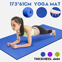 Pilates Gym Exercise Pads Yoga Mat EVA Non-slip Fitness Slim Yoga Home Gym Exercise Mats 4MM 173x61CM Fitness Mat Yoga Mat Bag