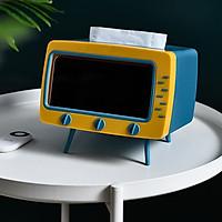 Hộp để điện thoại và khăn giấy đa năng-tivi thu nhỏ dễ thương