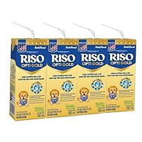 4 Thùng Sữa Bột Pha Sẵn Nuti RISO OPTI GOLD 180ml - Dành cho trẻ từ 1 tuổi trở lên (48 Hộp x 180ml)