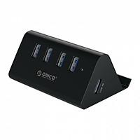 Hub 4 cổng USB 3.0 kiêm giá đỡ điện thoại Orico SHC-U3 - Hàng Chính Hãng