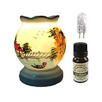 Combo đèn tinh dầu MNB31 và 1 chai tinh dầu sả chanh Song An Eco 10ml và 1 bóng đèn