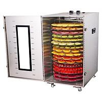 máy sấy thực phẩm hoa quả thịt cá  16 khay tròn trục xoay tự động điện 220v công suất 1500w