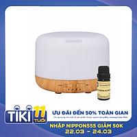 Máy Xông Tinh Dầu Siêu Âm Nagomi - Dung Tích 500ml - Tặng 1 chai tinh dầu (Hương thơm ngẫu nhiên) - Hàng nhập khẩu