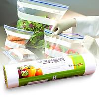 Cuộn 200 túi bóng bảo quản thực phẩm an toàn tự phân hủy - Hàng Hàn Quốc