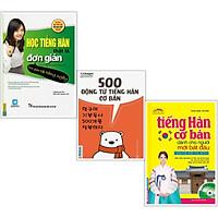 Combo Sách Tiếng Hàn: Học Tiếng Hàn Thật Là Đơn Giản + 500 Động Từ Tiếng Hàn Cơ Bản + Tiếng Hàn Cơ Bản Dành Cho Người Mới Bắt Đầu (3 cuốn - Tặng kèm Bookmark Happy Life)