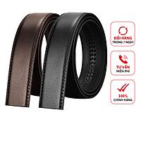 Dây thắt lưng nam D&D Fashion ( dây riêng lẻ không mặt ) dây da thật sử dụng cho khóa tự động