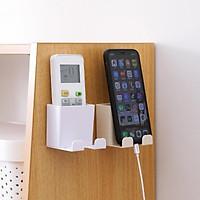 kệ để remote, sạc điện thoại dán tường tiện lợi