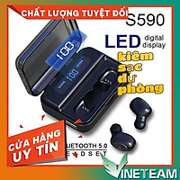 Tai Nghe Bluetooth Mini TWS S-590, Âm thanh 9D, Có Led Hiển Thị Pin,Chống Nước Cao Cấp,Kiêm pin sạc dự phòng -dc3872