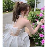 Váy trắng thắt nơ