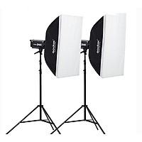 Bộ 2 đèn flash chụp ảnh Godox DP400II Hàng chính hãng.