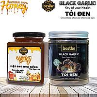 Tỏi đen bestke 250g và mật ong 100% nguyên chất tự nhiên 500ml