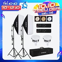 Andoer Studio Photography Light kit Softbox Lighting Set with 85W 2800K-5700K Bi-color Temperature LED Light * 2 +