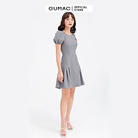 Đầm dáng xòe nữ chiết ly tùng GUMAC DB604