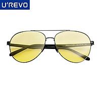 UREVO Day Night Driving Glasses Polarized Aviator Driving Glasses HD Anti Glare Sunglasses for Men Women