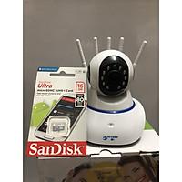 Camera Yoosee 5 râu thế hệ mới kèm thẻ nhớ 16GB - Hàng nhập khẩu