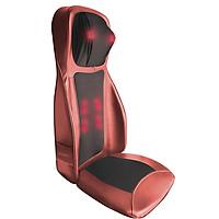 Ghế massage lưng, cổ, mông xoa bóp day ấn rung, nhiệt hồng ngoại Nikio NK-180 - Màu đỏ