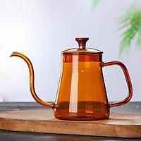 Ấm thủy tinh chịu nhiệt pha trà phong cách kiểu hàn nếu trên bếp - Hàng chính hãng