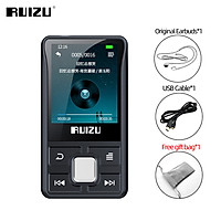 RUIZU X55 With Back Clip Sport Bluetooth MP3 Player 8GB Mini Color Screen Audio Player Support TF Card With Recording E-Book Clock Pedometer Music Player