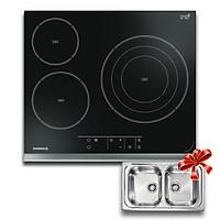 Bếp Hồng Ngoại 3 Lò Rosieres RVEF633INK Tặng Kèm 1 Chậu Đôi CM 011344 Italy - Hàng Chính Hãng