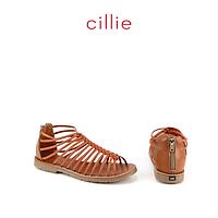 Giày sandal Cillie nữ đế bệt khóa hậu 1063