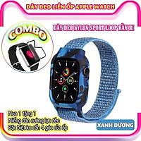 Mua Dây Đeo Dành Cho Apple Watch Tặng Miếng Dán Cường Lực Apple Watch Series 6/5/4/3/2/1 - Dây đeo dành cho Apple Watch Sport Loop Nylon liền ốp silicon rằn ri size 38/40/42/44mm - đủ màu