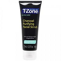 Tẩy tế bào chết tinh chất than hoạt tính T-Zone 75ml, làm sạch sâu, cho da dầu mụn, hàng chính hãng
