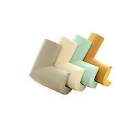 Bộ 4 bọc góc bàn bằng mút an toàn cho trẻ nhỏ có sẵn miếng dán (Màu ngẫu nhiên)