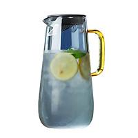 Bình Nước Thủy Tinh Borosilicate Màu Khói, Tránh Ánh Sáng Trực Tiếp, Bảo Vệ Đồ Uống, Thể Tích 1,6 Lít