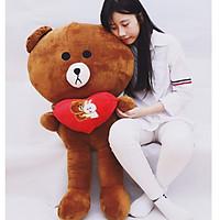 Gấu bông Brown ôm tim - Size lớn 1M