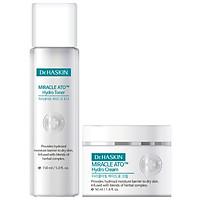 Combo nước cân bằng da (nước hoa hồng) và Kem dưỡng ẩm Dr.Haskin - DrHaskin Miracle Ato Hydro Toner & Cream (cung cấp độ ẩm tức thì cho da khô và da mẫn cảm)