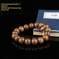 Bộ Vòng đeo tay phong Thủy Gỗ Đàn Hương Lụa Vàng Tự Nhiên Ấn Độ, Kèm Hộp đựng lót nhung nỉ